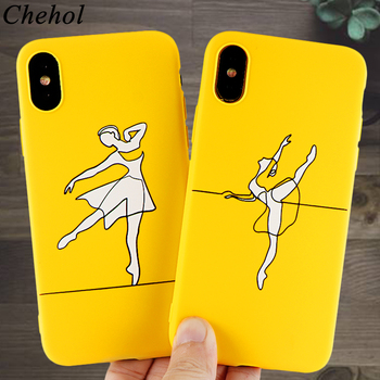 Fashion Ballet Dance Cell Phone Case for iPhone 11 8 7 6s Plus Pro X XS MAX XR Cases Soft Silicone Fitted Back Cover Accessories