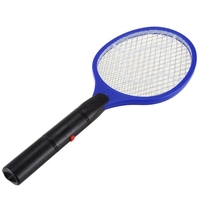 Batteries Operated Hand Racket Electric Mosquito Swatter Insect Home Garden Pest Bug Fly Mosquito Swatter Killer|Bug Zappers| |  -