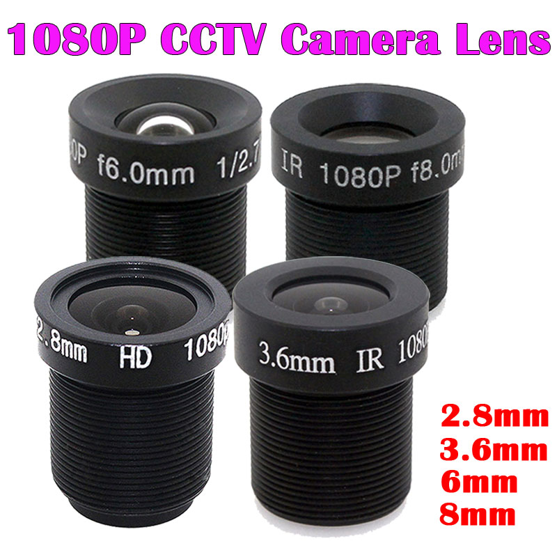 "HD 1080P 2.8/3.6/6/8mm CCTV LENS Security Camera Lens M12 2MP Aperture 1/2.7"", 1/2.5"" Image Format Surveillance Camera Lens HD"