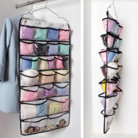 42 Pocket Hanging Dual Sided Hanging Closet Organizer Storage Clothes