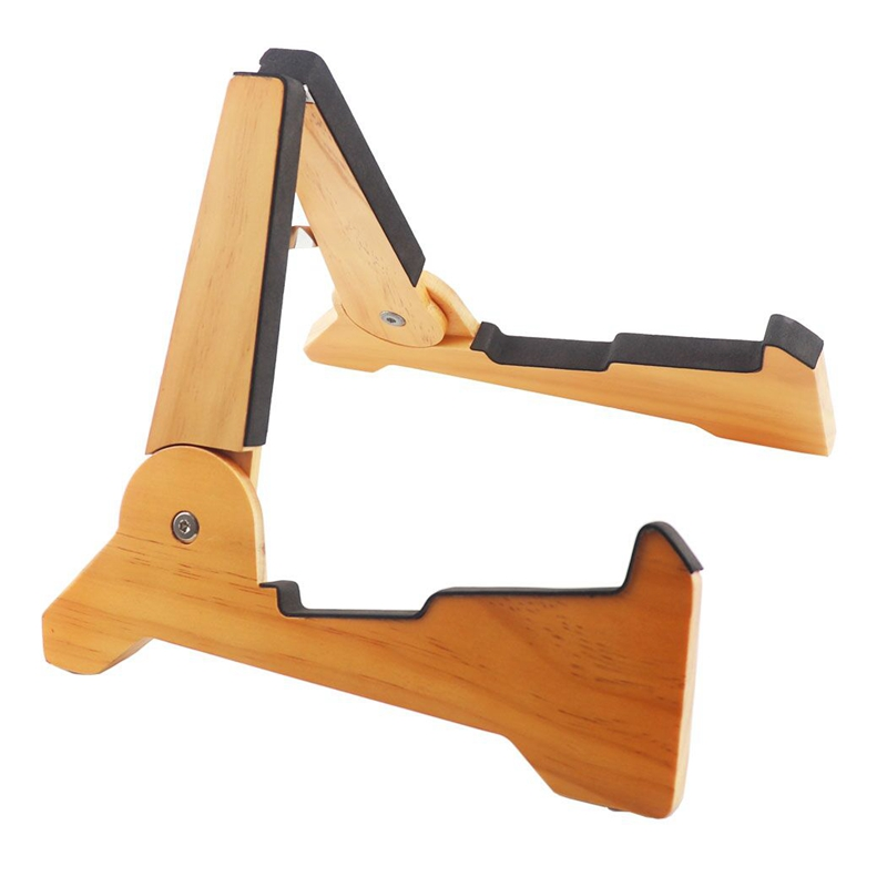 ABGZ-Universal Folding a Frame Wooden Guitar Stand Holder Support Fit for Electric Guitar Acoustic Guitar Ukulele Bass