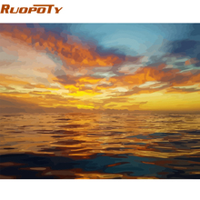 RUOPOTY Picture By Numbers Seascape Diy Painting By Numbers Modern Wall Art Picture By Numbers Painting & Calligraphy For Gift