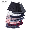 Летняя женская клетчатая юбка с принтом 2020, повседневные студенческие плиссированные юбки с высокой талией в стиле Харадзюку, Милая Мини-Юб...