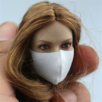 4 Colors Model 1/6 Scale Sexy mask Women Fashion Multicolor Soft Female Mask Playing Toy for 12 Action Figure Body Accessory