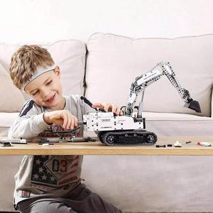 Image 2 - Xiaomi construcción de una excavadora para niños, Xiaomi, bloques de construcción, ingeniería, juguetes, excavación, maquinaria, bloques de construcción, juguete para regalo