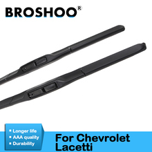 BROSHOO Car Windshield Wiper Blade Natural Rubber 22&19 For Chevrolet Lacetti 2005 2006 2007 2008 2009 2010 2011 Accessories broshoo car windshield wiper blade natural rubber 24