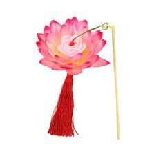 Lanterns Lamp Lotus-Flower-Light Festival Mid-Autumn Party Blossom for Gift Dancing-Props