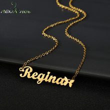Custom Necklace Pendant Jewelry Choker Gold-Chain Stainless-Steel Butterfly Personalized-Name