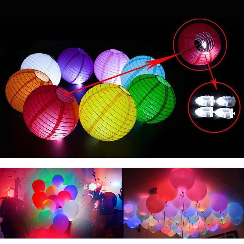 10Pcs Mini LEDโคมไฟแฟลชบอลลูนไม่มีเส้นLuminousโคมไฟสำหรับLatexบอลลูนงานแต่งงานวันเกิดคริสต์มาส