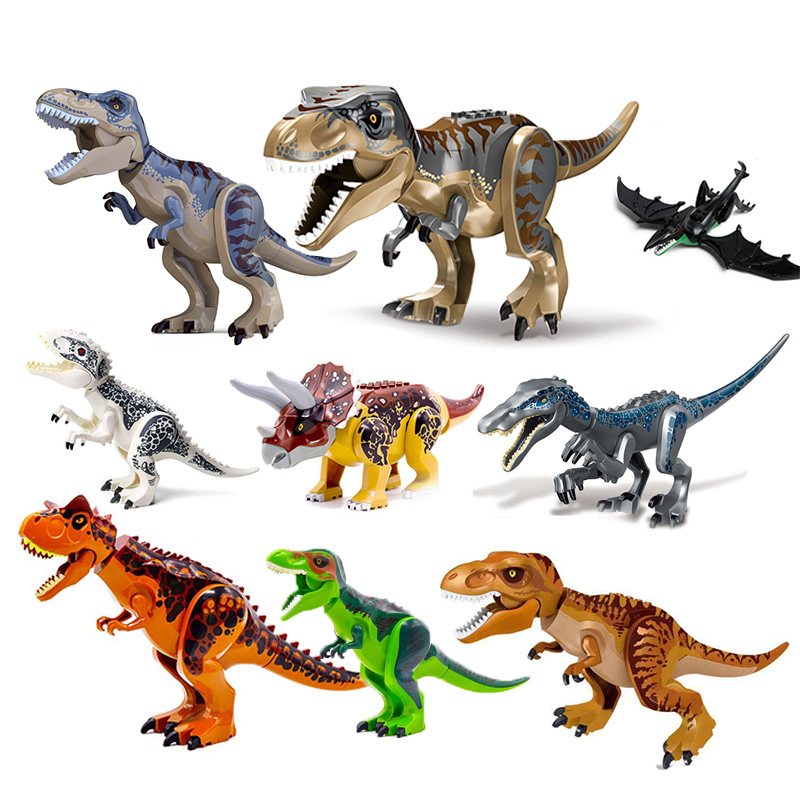 Jurassic World 2 Building Blocks Dinosaurs Figures Bricks Tyrannosaurus Rex Indominus Rex I-Rex Assemble Legoinglys Kids Toys