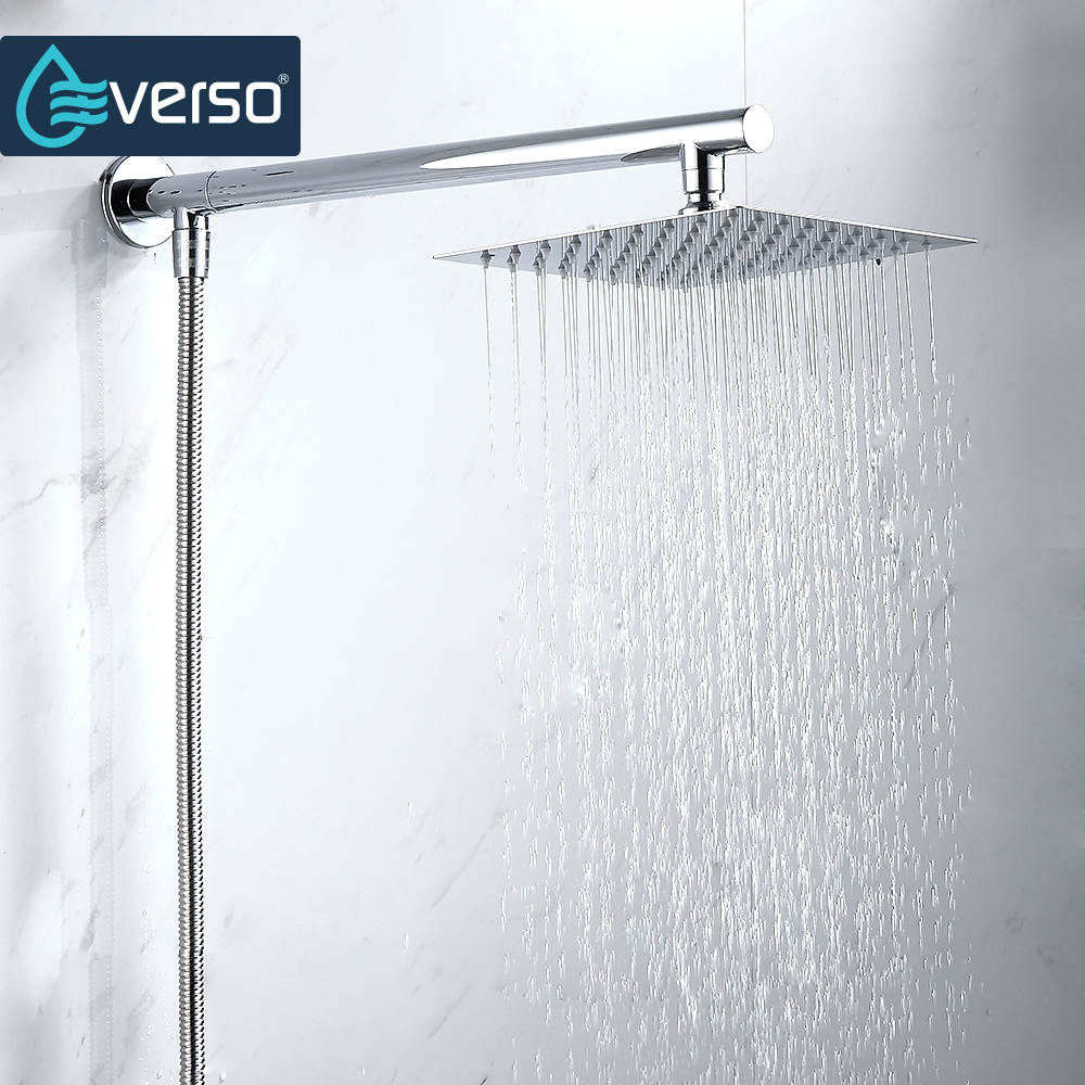 EVERSO Chrome Wall Mounted Ultrathin Square 8