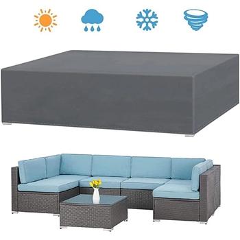 Szary wodoodporny Patio na świeżym powietrzu pokrowce na meble ogrodowe deszcz śnieg krzesło pokrowce na sofę stół i krzesła odporny na kurz tanie i dobre opinie CN (pochodzenie) MEDITERRANEAN 120*120*74CM 100 poliester