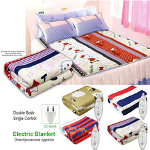220v  Electric Heated Mattress Dual Body Single Control Thermostat Blanket Heating Warm