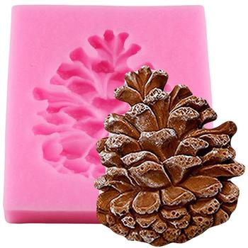 Christmas Pine Cones Shape Cake Fondant Mold Candy Chocolate Silicone Molds Biscuits Mould DIY Cake Decoration Baking Tools 3d christmas pine cones tree silicone candle soap fondant mold cake chocolate decorating baking mould tool