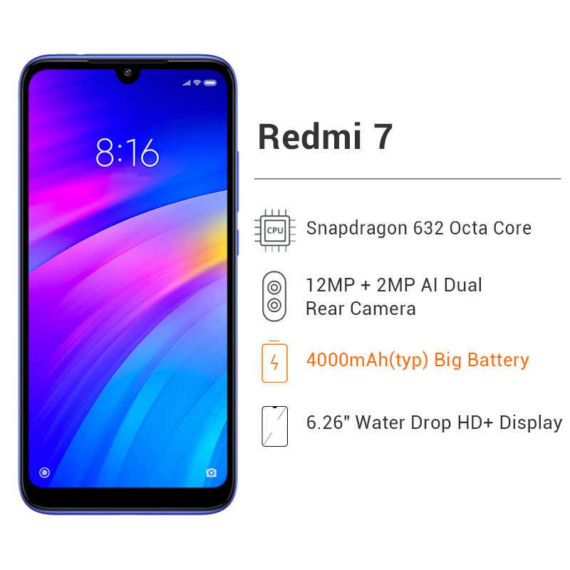 """Globalny ROM Xiaomi Redmi 7 4GB RAM 64GB ROM snapdragon do telefonu komórkowego 632 octa core 12MP aparat 4000mAh bateria 6.26 """"pełny ekran"""