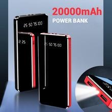Flash-Light Power-Bank Led-Display 20000mah External-Battery-Charger Dual-Usb FLOVEME
