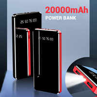FLOVEME Power Bank 20000mAh Dual USB LED Display-Licht 10000mAh Power Tragbare Externe Batterie Ladegerät Poverbank