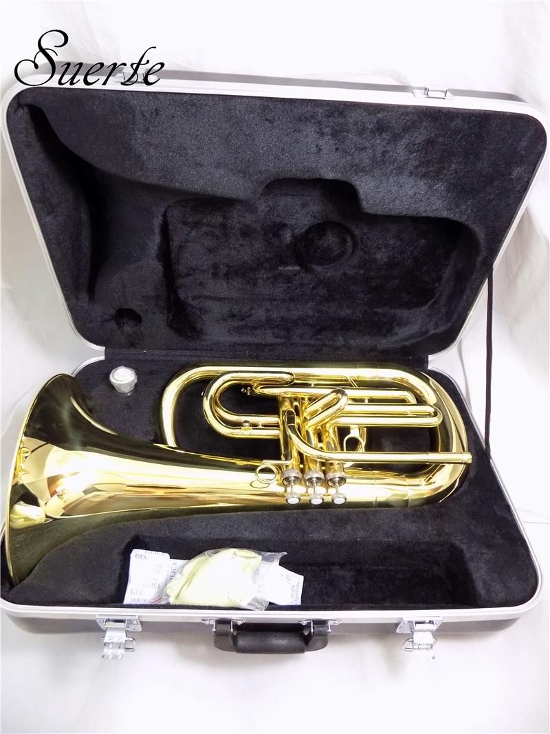 Bb Marching euphonium чехол с мундштуком желтый латунный euphonium Horn Музыкальные инструменты