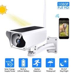1080P Solar IP Camera 2MP Wireless Wi-fi Pengawasan Keamanan Tahan Air Outdoor Kamera IR Malam Visi Tenaga Surya HD Cam