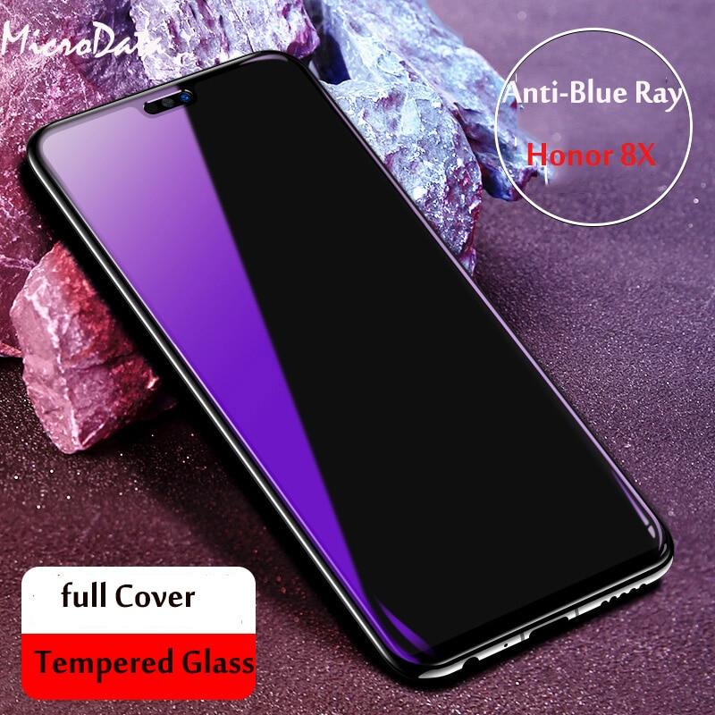Para Huawei Honor 8X Max 8C 8A 8S Protetor de Tela de Vidro Temperado Anti Luz Azul Roxo Para Honra 9X pro 8X Max Vidro De Proteção