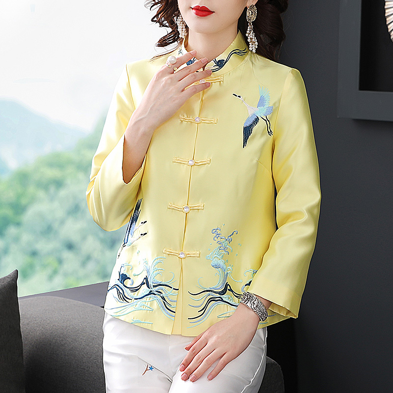 2020 chinese top female's qipao top hanfu chinese cheongsam top tangsuit oriental style costume outfit for women elegant blouse