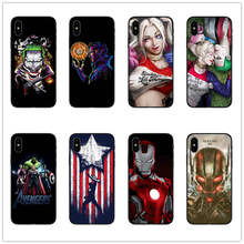 Avengers Marvel Harley Quinn Phone Case for iphone SE XR 5 6 5S X 7 8 6S PLUS XS MAX cases superhero superman cover coque