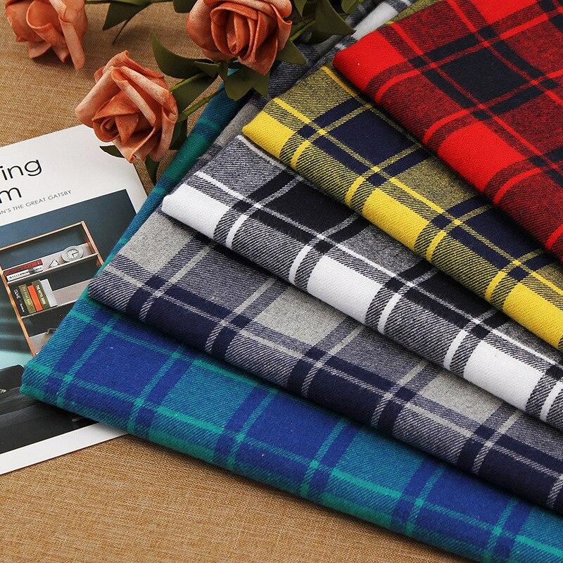 Плотная клетчатая ткань из полиэстера и хлопка с принтом, одежда, платье, рубашка, лоскутное шитье ручной работы, клетчатая ткань