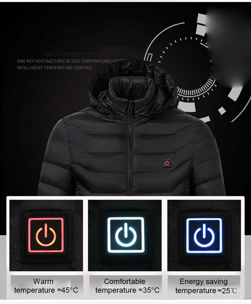New Adult Outdoor USB Infrared Heating Vest Jacket Winter Flexible Electric Thermal Clothing Waistcoat Fishing Hiking Dropship435657
