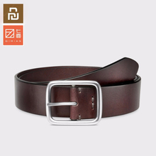 Best quality Youpin Qimian 100% Leisure Cow Leather Belt Fashion Five Hole 38mm Width for Man Alluminum Buckle Best Gift