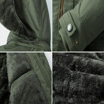Thicken Fur Hooded Winter Parkas Men Plus Size 5XL 6XL Military Warm Fleece Cotton Parka
