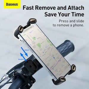 Image 2 - Baseus オートバイまたは自転車用のユニバーサル携帯電話ホルダー,iPhone用のハンドルバーマウント