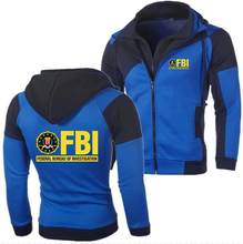 2018 Brand FBI hoodie Design Print Fleece Men Zipper Suzuki Sweatshirts Casual Men Hoodie Tops(China)