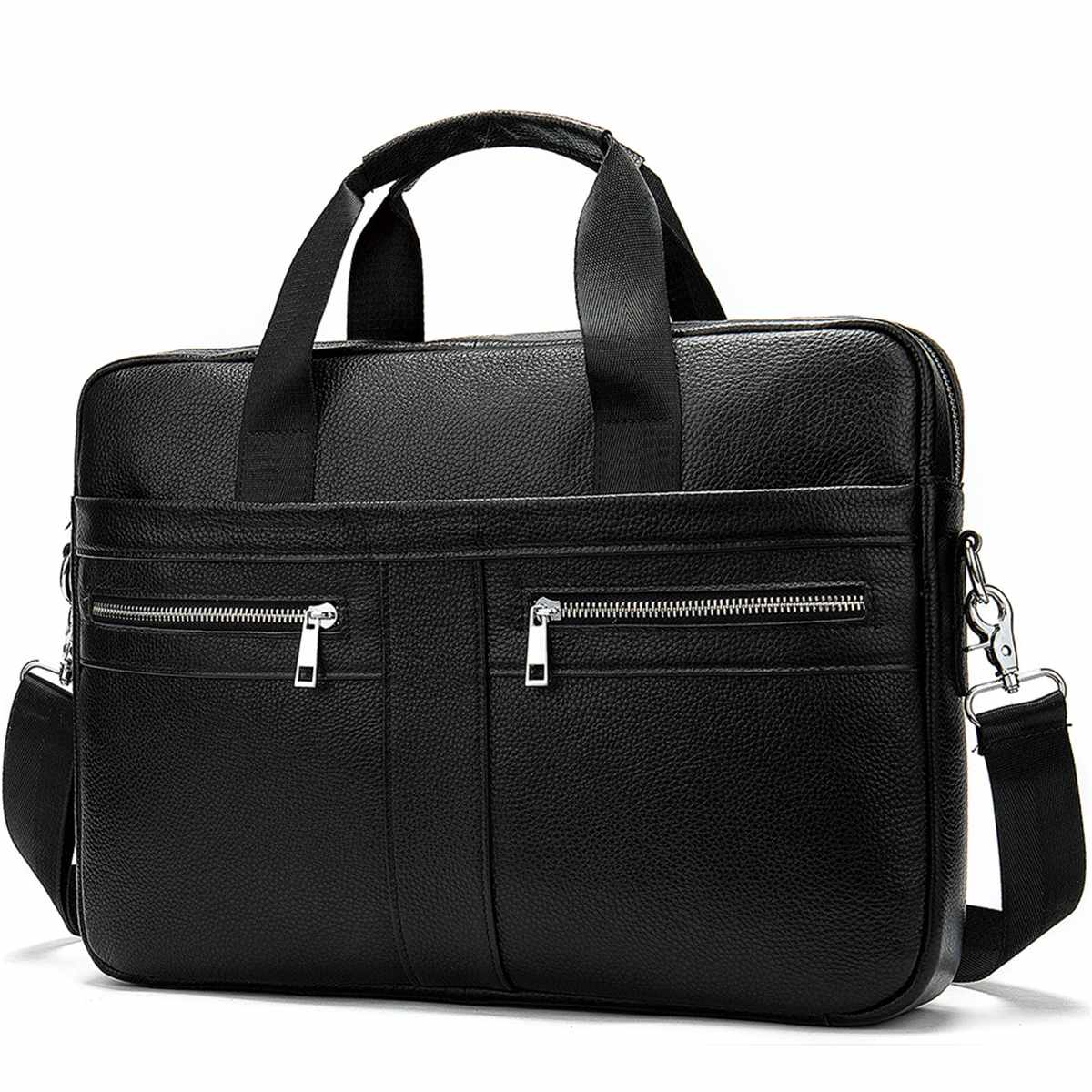 Business Men's Briefcases Men's Bag Genuine Leather Messenger Bags Laptop Bag Leather Briefcase Office Bags For Men 2019