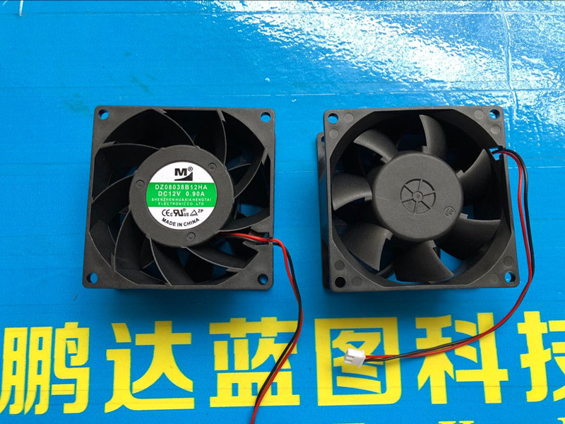 New <font><b>80</b></font> * <font><b>80</b></font> * 8038 8 cm cm 38 mm <font><b>12</b></font> v double ball bearing large volume industrial cooling fan image