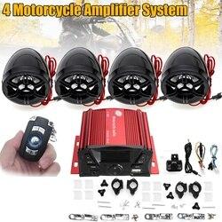 4 lautsprecher Motorrad Verstärker System Mini Motorrad Audio Lautsprecher Mit Wireless Fernbedienung Led-anzeige USB Port
