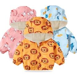Lzh 2021 Herfst Lente Pasgeboren Baby Jas Voor Baby Jongens Jas Baby Cartoon Print Bovenkleding Jas Voor Baby Kleding Baby jas