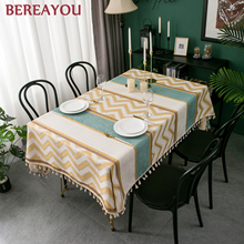 Nordic Table Cloths Suede Rectangle Tablecloth Waterproof Dining Table Cover Korean Tassel Table cloth For Bar toalha de mesa