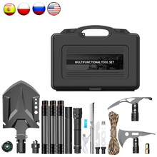 Digging-Tool-Kit Survival-Sapper-Shovel Military Axe Folding Emergency-Box Multifunction