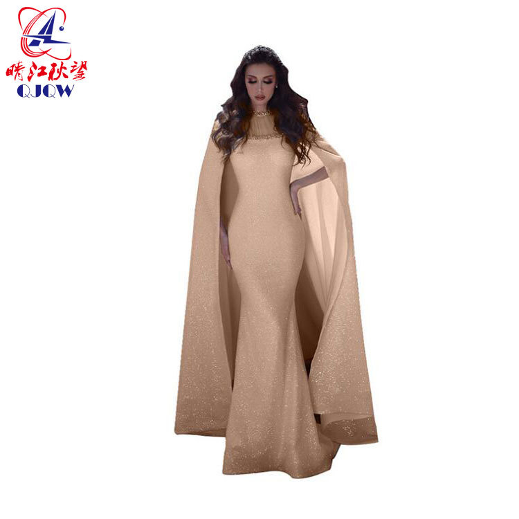 2019 Hot Selling Slit Cuff Head Dress Europe And America WOMEN'S Dress Sexy Backless Gauze Formal Dress