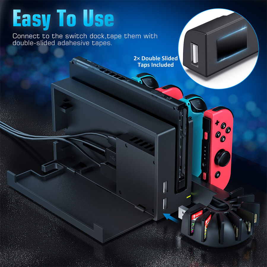 For Nintend Switch Charger 4 Port Joycons Controller Gamepad Charging Dock Station Switch Console Holder Charger