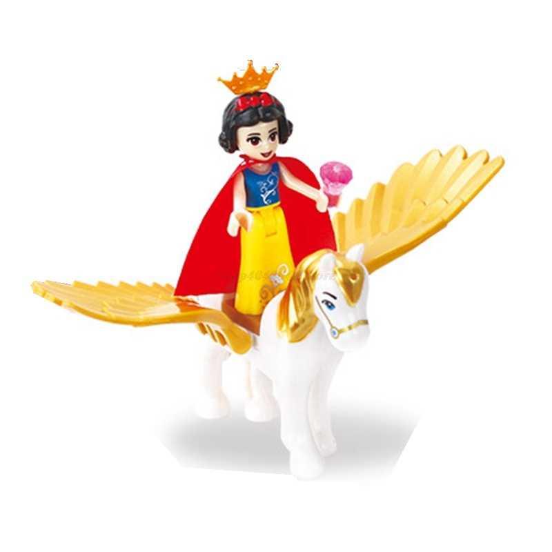 Amigos chicas Legoing princesa figura Cenicienta Anna Jasmine bloques niños juguetes princesa Legoings amigos figuras regalos de navidad