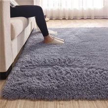 Modern Fluffy Big Carpet Tea Table Feet Relax Rugs Bedroom Footcloth Shaggy Bedside Mats Baby Room Gym Rugs(China)