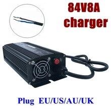 84V 8A lithium battery smart charger for 72V 20S Li-Ion 672
