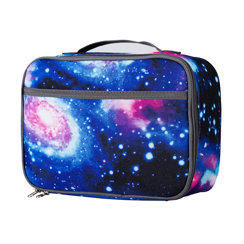 Heopono Thermal Cooler Box Boy Girls Fitness Galaxy Eco Friendly Kids Children Rectangle Insulated Custom Lunch Bag For Food