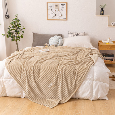 New Magic Velvet  Yellow Color Blankets For Beds Soft Keep Warm Square Flannel Blanket On The Bed Thickness Throw Blanket