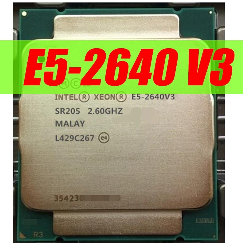 Процессор Intel Xeon E5 2640 V3 SR205 2,6 Ghz 8 Core 90W Socket LGA 2011-3 CPU E5 2640V3