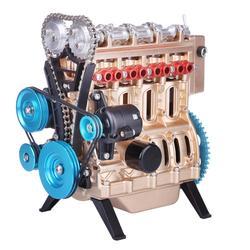 1set Mini In-Linie Vier-Zylinder Auto Motor Montieren Runnable Motor Modell 2020 Neue Ankunft Birthdaty Geschenke