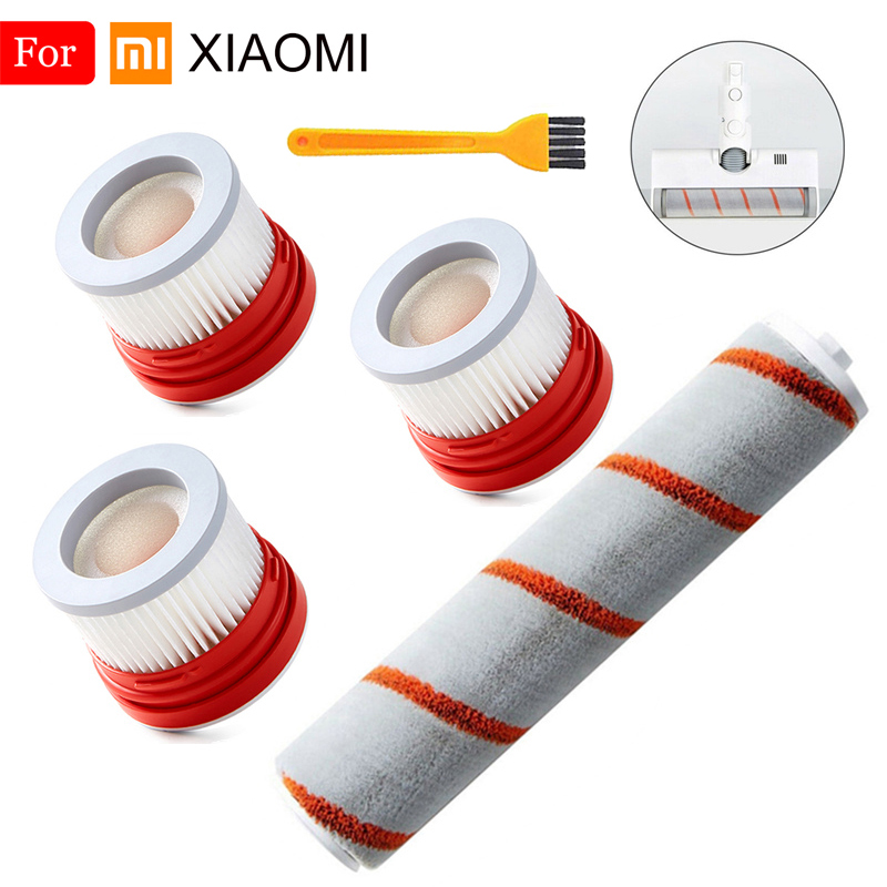 HEPA Filter For Xiaomi Dreame V9 V9B Household Wireless Handheld Vacuum Cleaner Accessories Hepa Filter Roller Brush Parts Kit