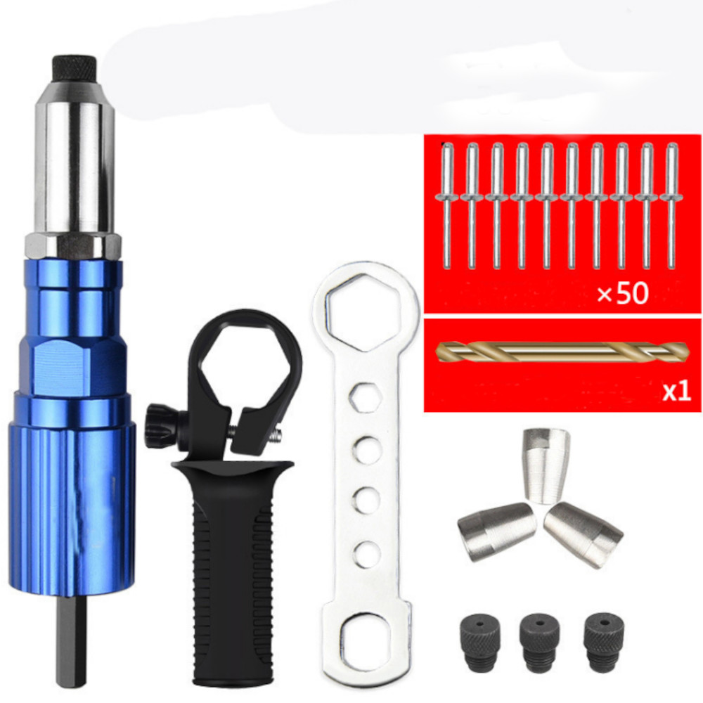 Upgrade Electric Rivet Nut Attachment Cordless Riveting Drill Adapter Riveting Tool Insert Nut Tool