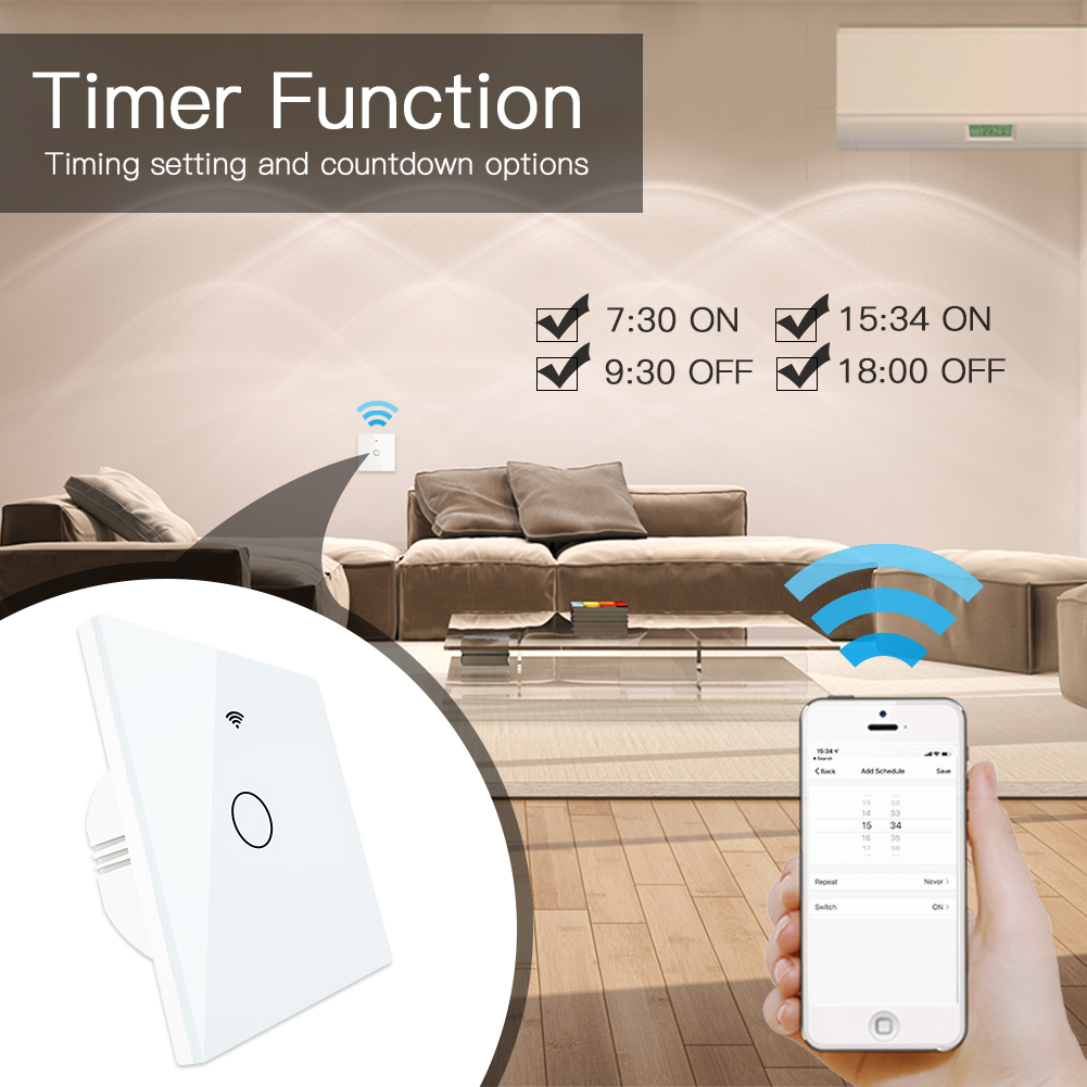 lowest price 2 Gang 2 Way Wifi Smart Light Switch Diy Breaker Module Smart Life Tuya APP Remote ControlWorking with Alexa Echo Google Home